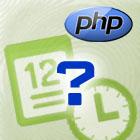 Vyjádření času v php